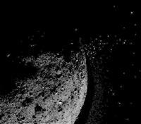 小惑星から岩石?噴き飛ぶ NASA探査のベンヌ