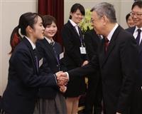 日台スカラシップ 学生ら副総統を表敬