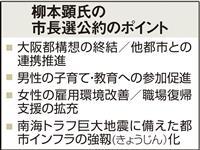 【大阪ダブル選】柳本顕氏が公約発表「未来社会の自治のあり方創る」