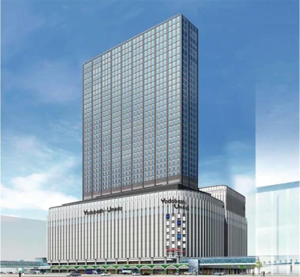 今年秋完成を予定する「ヨドバシ梅田タワー(仮称)」のイメージ