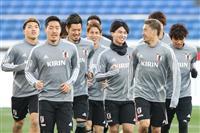 22日、サッカー日本代表-コロンビア戦