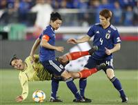 サッカー日本-コロンビア速報(2) 前半10分を終え両チーム無得点