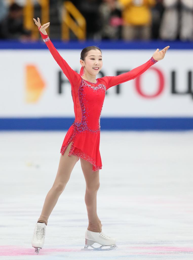 4回転成功で「銀」 世界選手権女子で初、カザフのトゥルシンバ ...