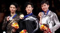 羽生は銀、宇野4位 チェン連覇、世界最高323.42点 世界フィギュア