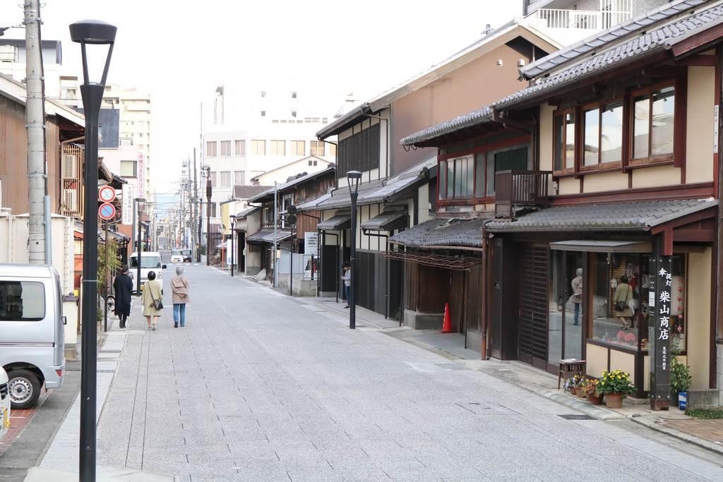電線地中化が完了した大津市内の旧東海道