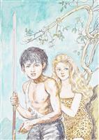 懐かしの「少年ケニヤ」 出雲で絵物語作家・山川惣治の作品展