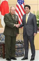 辺野古移設の重要性確認 首相、米海兵隊トップと面会