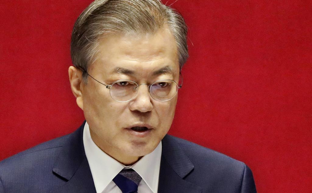 韓国の文在寅大統領(AP)