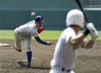 【選抜高校野球】硬式転向から1年 明石商の中森が粘りの完投