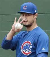 ダルビッシュが投球練習 右手薬指のまめは「いいよ」