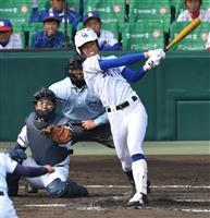 【選抜高校野球】筑陽学園の1番中村、父譲りの打法で勝ち越し打