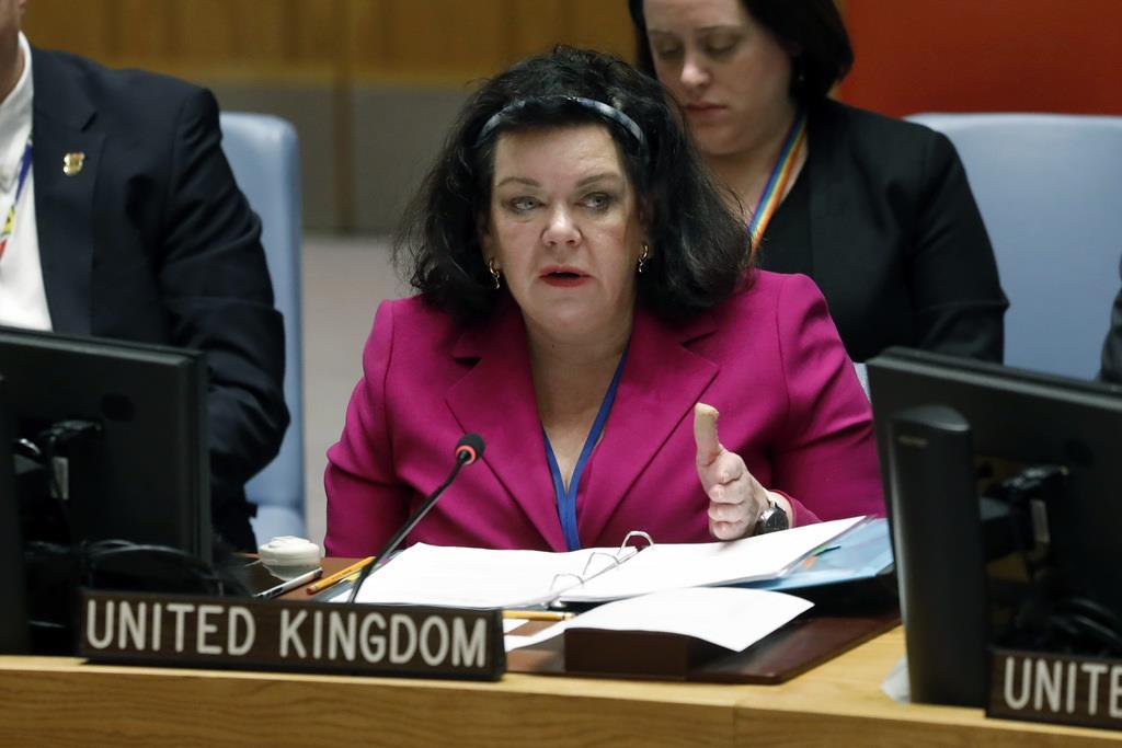 英国のピアス国連大使=1月22日(AP)