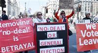 「英国の独立記念日のはずが」離脱派市民数千人がデモ