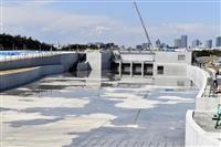 東京五輪カヌー会場に注水開始 満水に約2週間
