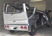 横転の軽乗用車、蛇行運転 静岡の4人死傷事故