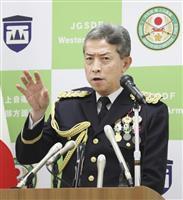 陸自・西部方面総監が着任「防衛の最重要正面だ」 熊本市で記者会見