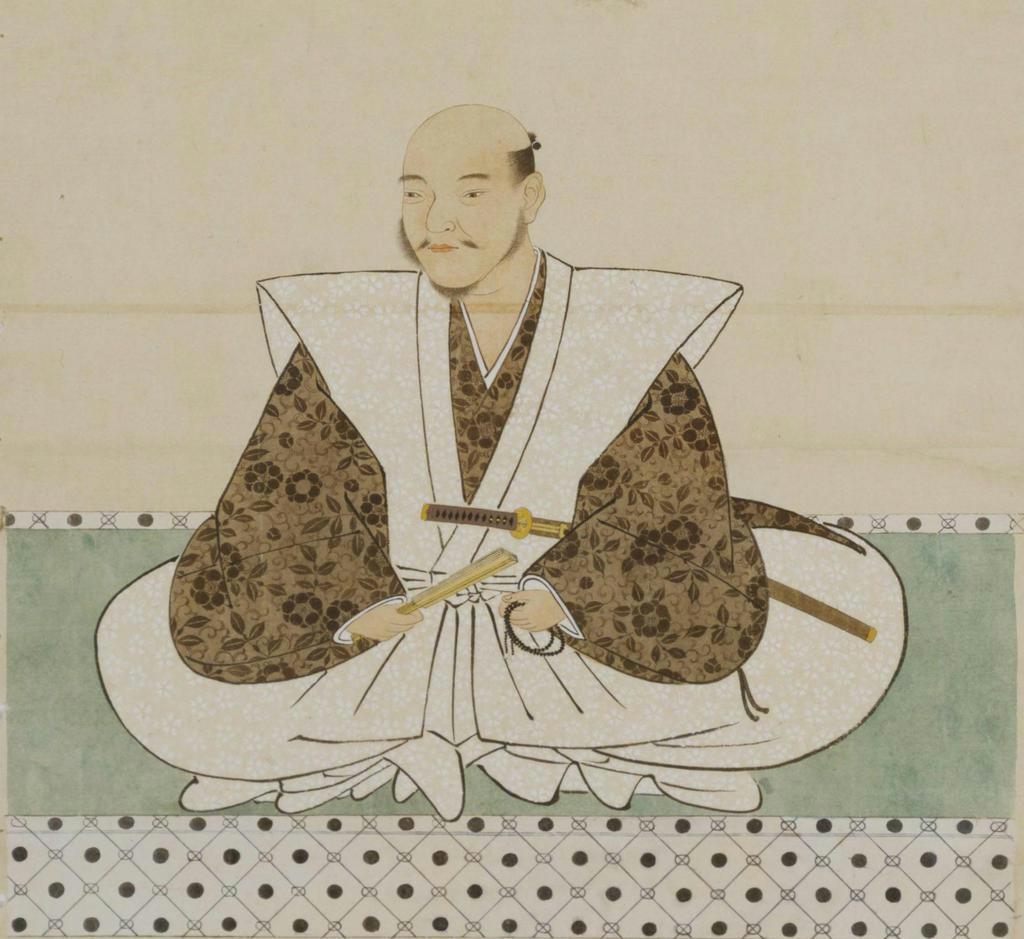 竹中重治(半兵衛)像=模本、東大史料編纂所蔵