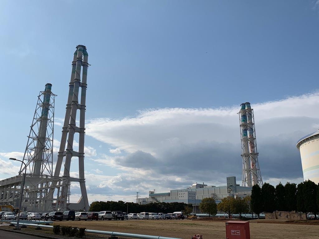 九州電力の新大分発電所=大分市(筆者撮影)