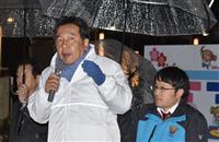 立民・枝野氏、水戸で政権批判 統一地方選での支持訴え