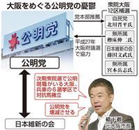 維新の攻勢に危機感募らせる公明 大阪12区補選に影響も