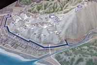 「難攻不落」の構造一目瞭然 安来市が月山富田城のジオラマ制作