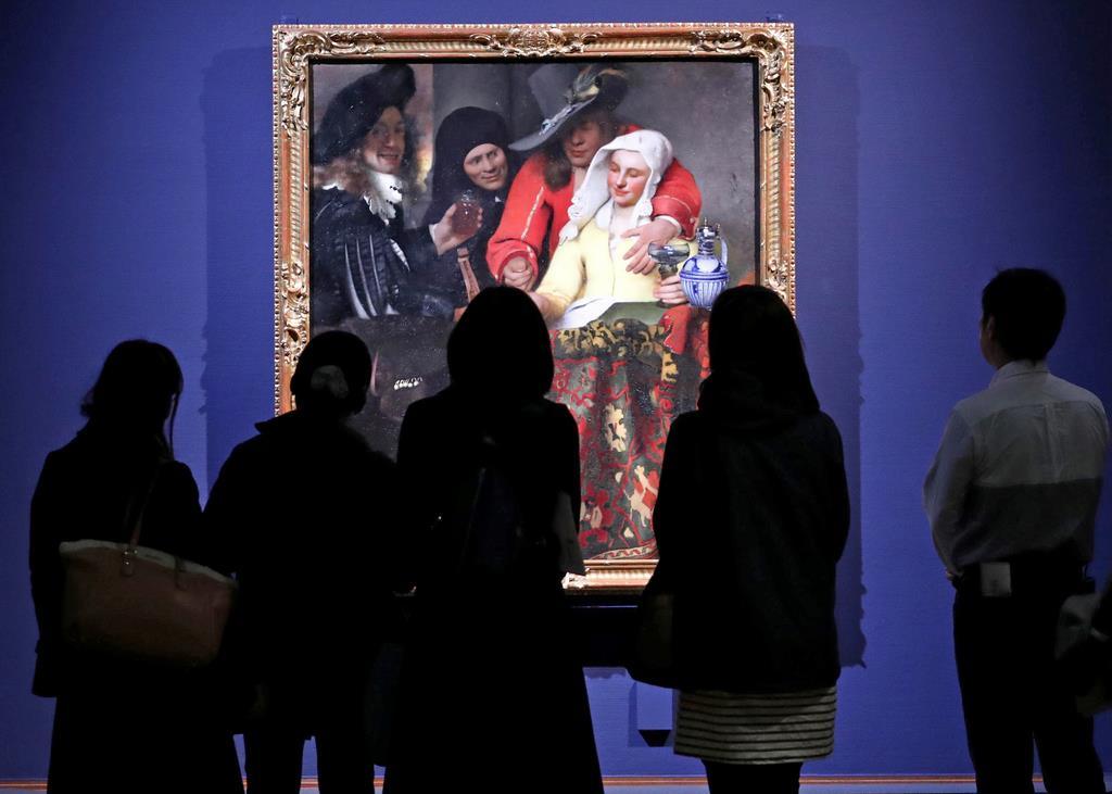 27日から閉幕まで開館時間を1時間繰り上げるフェルメール展=大阪市天王寺区の市立美術館