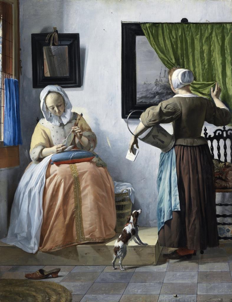 ハブリエル・メツー《手紙を読む女》1664-1666年頃 アイルランド・ナショナル・ギャラリー Presented, Sir Alfred and Lady Beit, 1987 (Beit Collection) Photo ? National Gallery of Ireland, Dublin NGI.4537