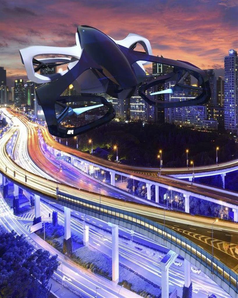 技術者団体カーティベーターが開発する空飛ぶ車のイメージ(同団体提供)
