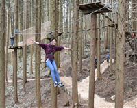 自然の中で空中散歩楽しむ 新レジャー施設がきょうオープン 六甲山