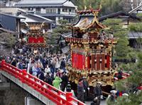 豪華屋台が城下町彩る 岐阜、春の高山祭開幕