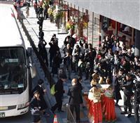 奈良公園バスターミナル開業 観光客でにぎわう