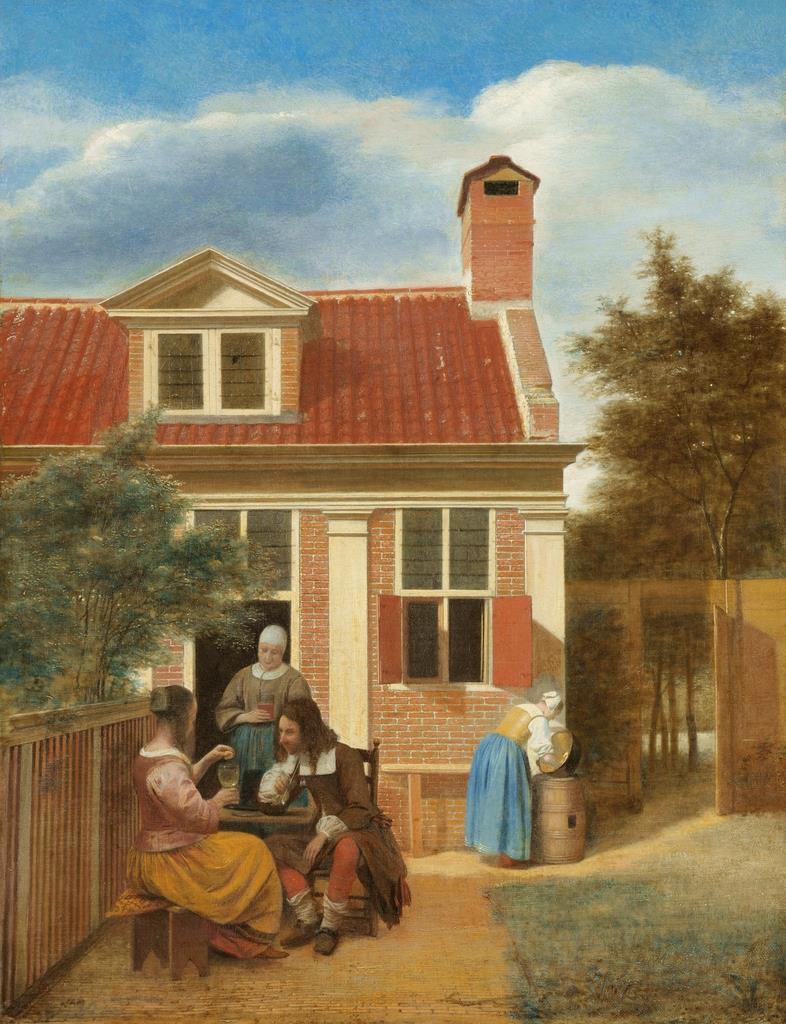 《人の居る裏庭》1663-1665年頃 アムステルダム国立美術館Rijksmuseum. On loan from the City of Amsterdam (A. van der Hoop Bequest)