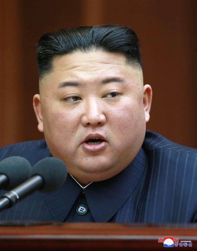 北朝鮮の金正恩朝鮮労働党委員長=12日、平壌(朝鮮中央通信=共同)