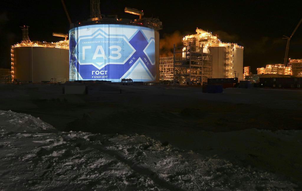 ロシア北極圏のヤマル半島にある液化天然ガス(LNG)施設「ヤマルLNG」(ロイター)