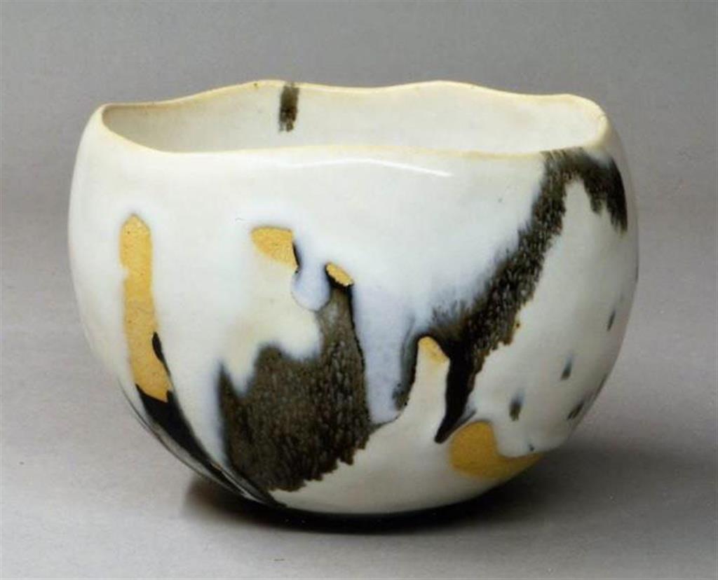「白釉碗」(清水一二さん作)