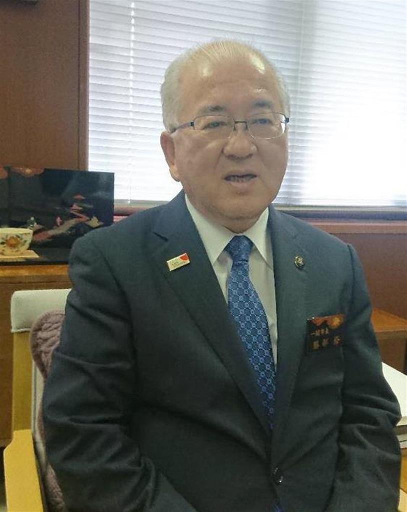 岩手県一関市の勝部修市長(藤沢志穂子撮影)