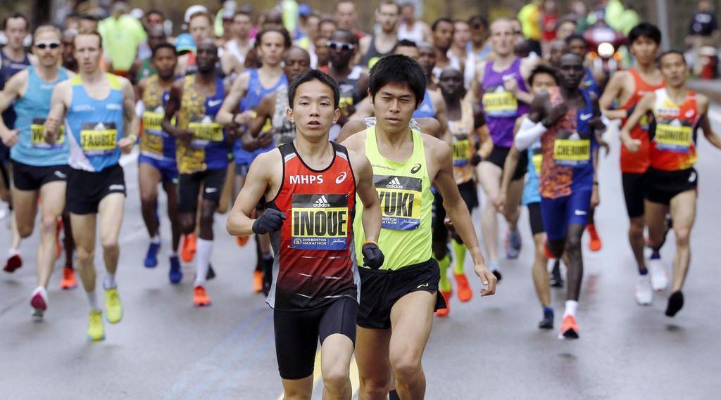 川内連覇ならず17位 井上が12位 ボストン・マラソン