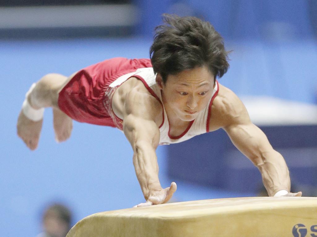 昨年の全日本種目別選手権の跳馬で優勝した米倉英信=高崎アリーナ