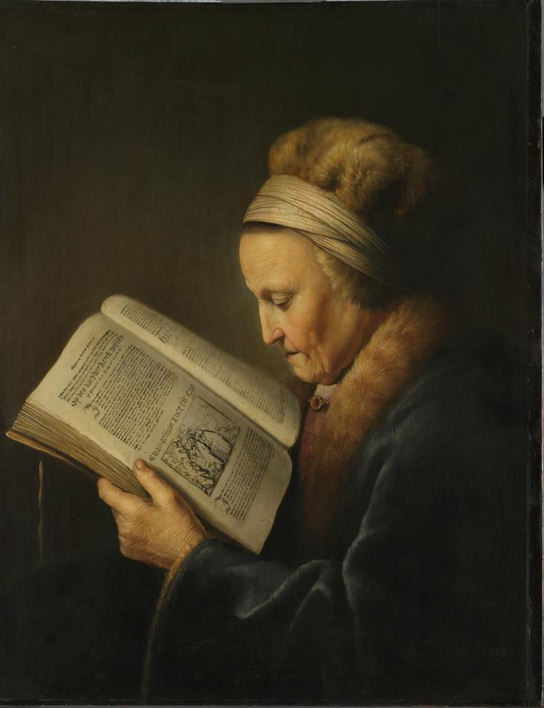 ヘラルト・ダウ《本を読む老女》1631-1632年頃 アムステルダム国立美術館  Rijksmuseum. A.H. Hoekwater Bequest, The Hague, 1912