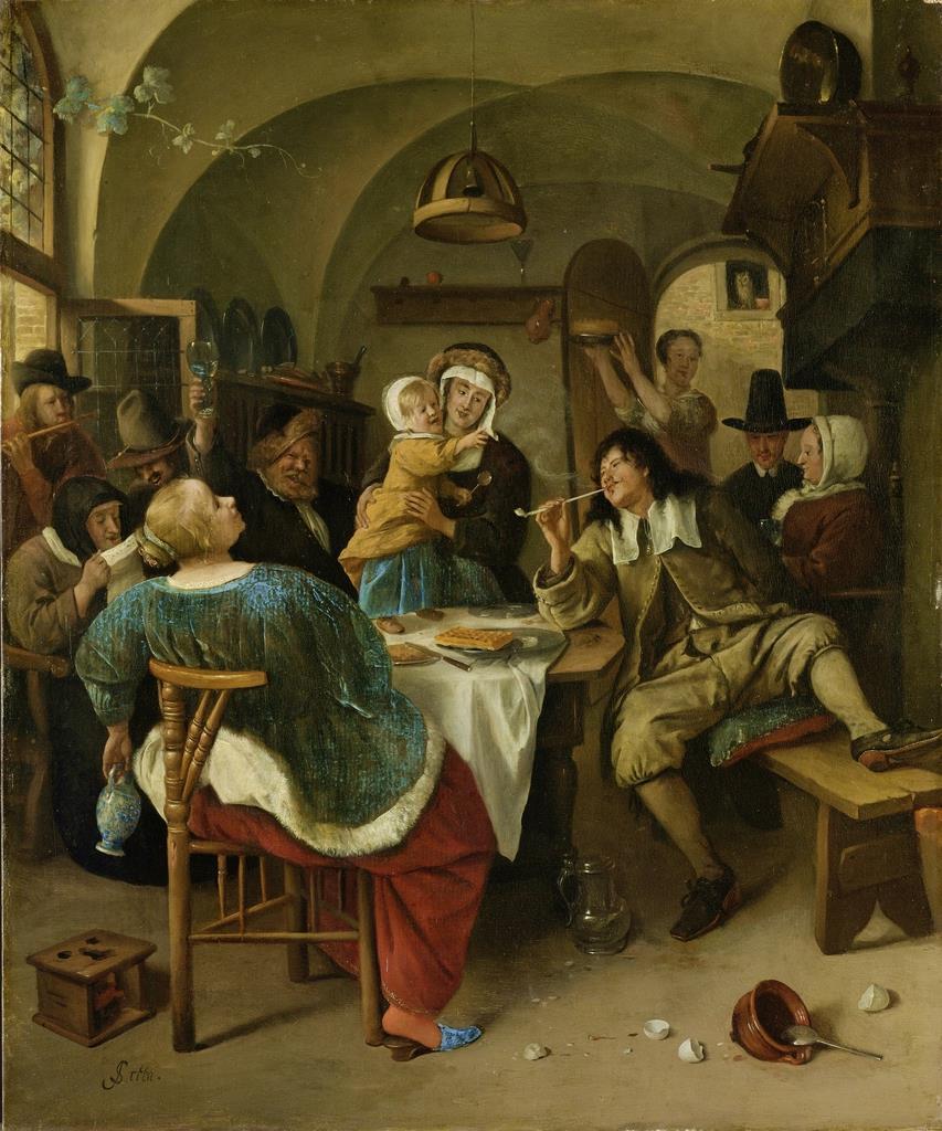《家族の情景》1665-1675年頃 アムステルダム国立美術館 Rijksmuseum. On loan from the City of Amsterdam (A. van der Hoop Bequest)