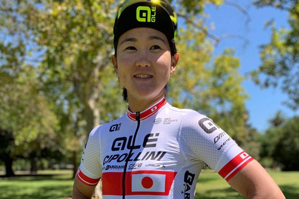 自転車女子ロードレースの與那嶺恵理選手