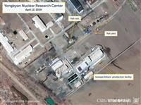 北朝鮮・寧辺の核施設近くに特殊鉄道車両 核物質移動に関連か