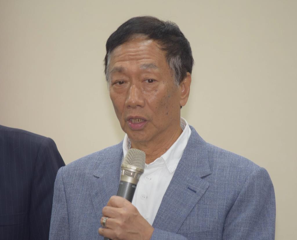 鴻海の郭会長が台湾・総統選に出馬表明