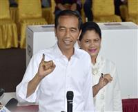 インドネシア ジョコ大統領再選へ