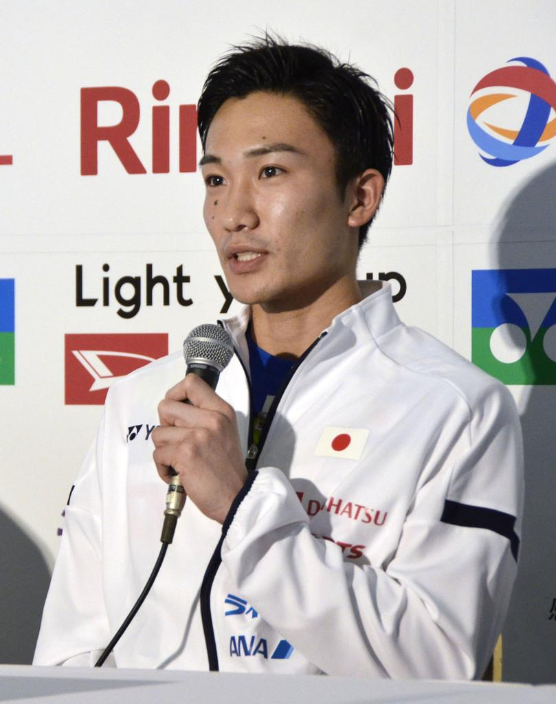 ジャパンオープンへ桃田「連覇したい」 バドミントン