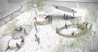 「パイ山」改め新デザイン 阪急神戸三宮駅北側の広場、2年後に刷新