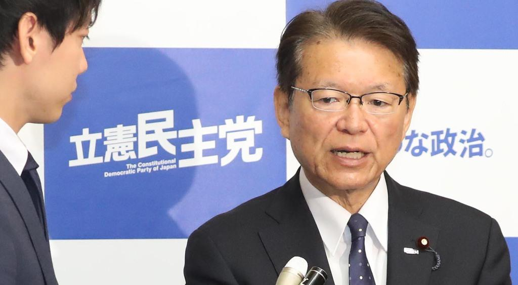 立憲民主党の長妻昭選対委員長(春名中撮影)