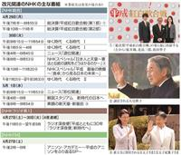 改元関連番組 平成の食卓 変遷たどる NHK