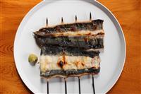 【料理と酒】うなぎの白焼き ワサビ醤油とダイコンおろしで