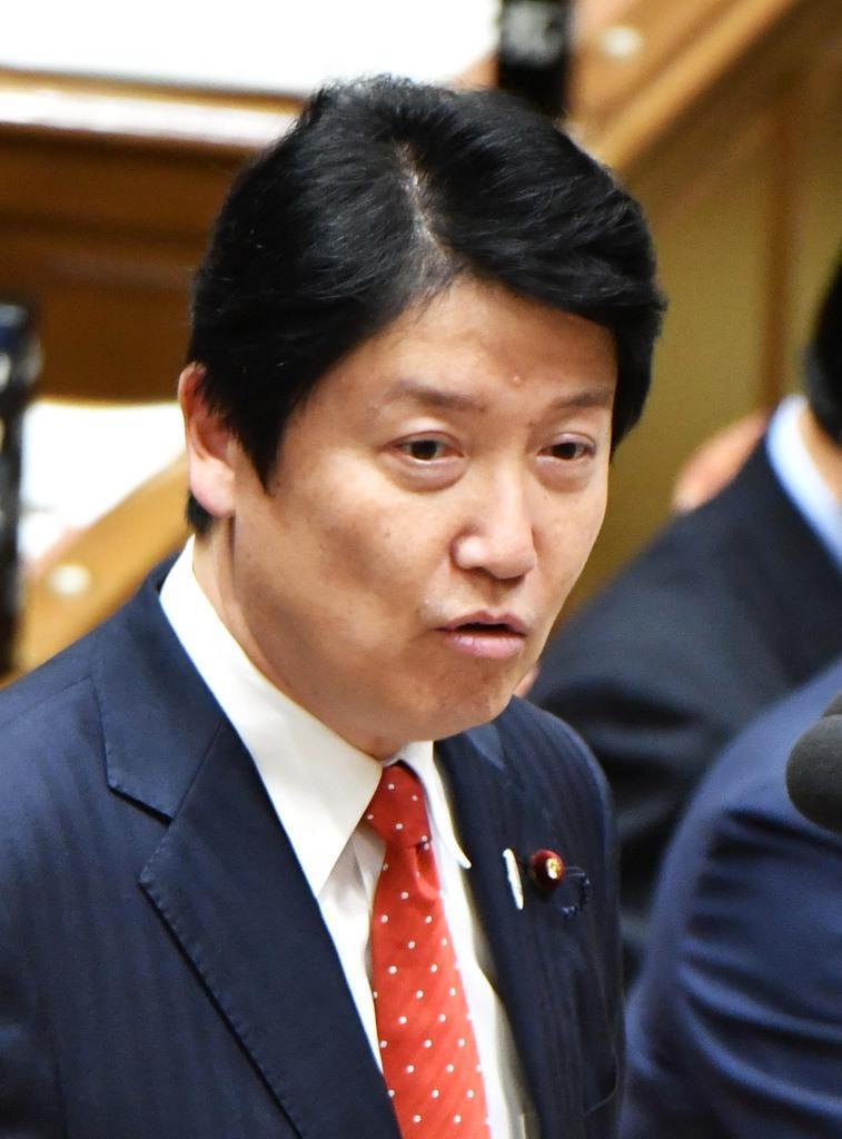 日本維新の会・足立康史氏(斎藤良雄撮影)